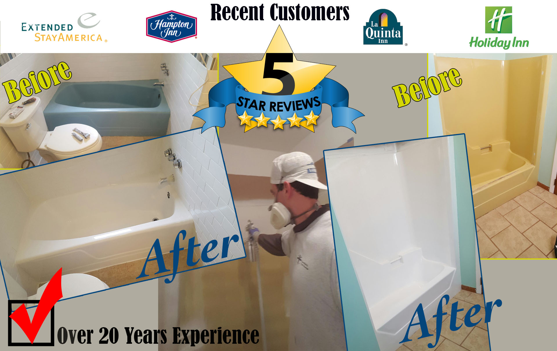 Atlantau0027s Most Experienced Bathtub Refinisher! We Make Tubs Look BRAND NEW  In LESS THAN A DAY! CLICK To DIAL 404 800 6502